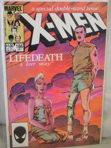 The Uncanny X-Men 186  VF/NM  condition.  Unread. 1984 . Double Size Issue !