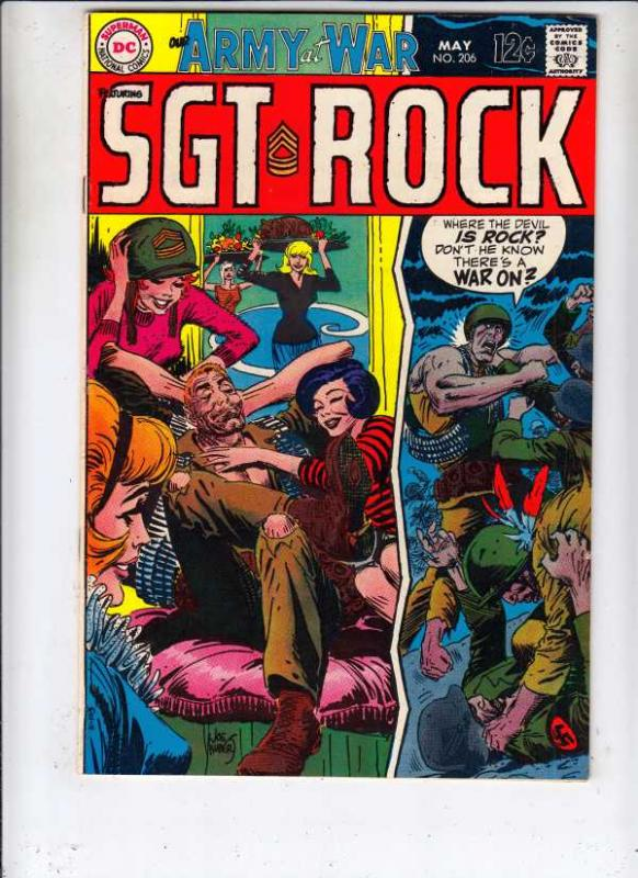 Our Army at War #206 (May-69) VF/NM+ High-Grade Easy Company, Sgt. Rock