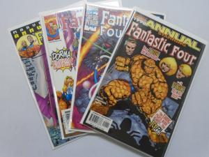 Fantastic Four (3rd Series) lot #1998 Direct 4 diff books average 8.5 VF+ (1998)
