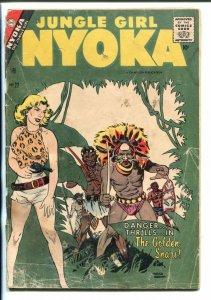 NYOKA #22-1957-CHARLTON-MAURICE WHITMAN COVER-JUNGLE GIRL-pr/fr
