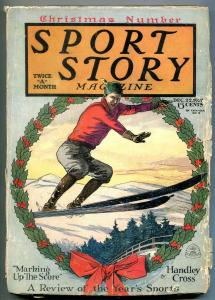 Sport Story Pulp December 22 1927- Skiing cover- Christmas issue VG