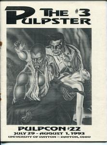 Pulpster #3 1993-program book for Pulpcon #221-loaded with pulp info-VG