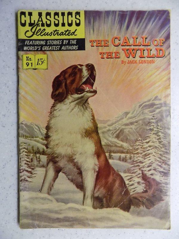 Classics Illustrated #91 (1952) HRN 112
