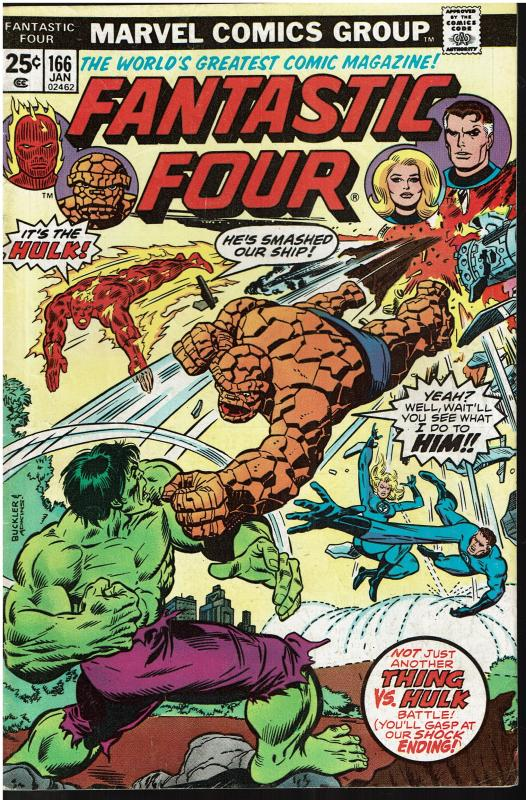 Fantastic Four #166, 5.0 or Better