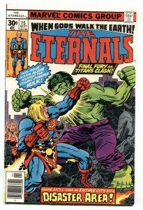 THE ETERNALS #15-Jack Kirby-HULK-comic book 1977