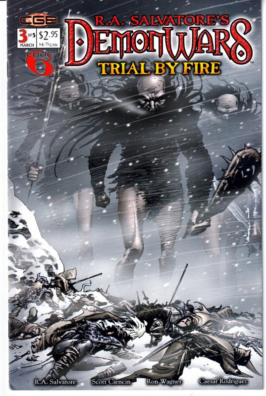 Demon Wars - Trial by Fire # 1,2,3,4,5  From The creator of D'Rzzt