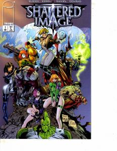 Lot Of 2 Image Comic Books Shattered Image #1 and Zealot #1 ON12