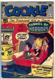 Cookie #19 1949-ACG-Tunnel of Horrors-skulls- teen humor-VG/FN