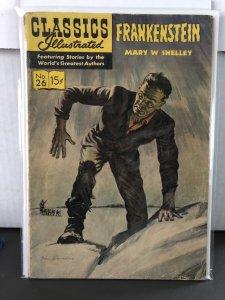 Classics Illustrated #26 Frankenstein 10th Print HRN 153