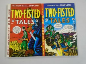 Two Fisted Tales Annual TPB #1+2 avg 7.0 FN VF (1994+95 Gemstone)
