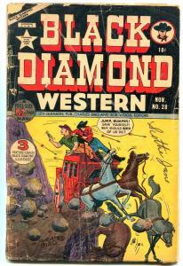 BLACK DIAMOND WESTERN #28 1951 LEV GLEASON  WOLVERTON G-