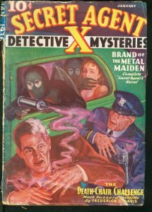 SECRET AGENT X 1936 JAN-WEIRD ACID FUME ATTACK COVER FR