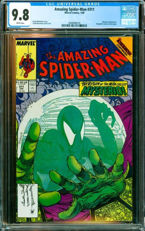 Amazing Spider-Man #311 CGC Graded 9.8 Mysterio appearance. Hobgoblin cameo o...