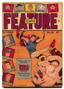 Feature Comics #82 1944- DOLL MAN cover- Rusty Ryan G/VG
