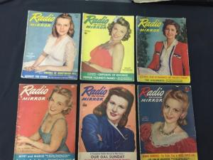 Superman in Radio - 16 issue lot of Radio and Television Mirror Magazine 1941-42