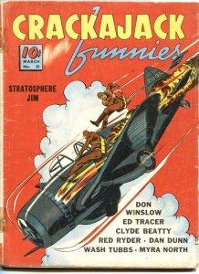 CRACKAJACK FUNNIES #21-1940-TARZAN-RED RYDER-DON WINSLOW-DAN DUNN--RARE