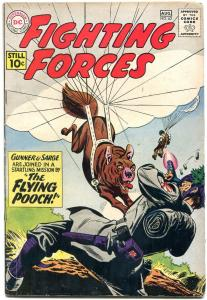 OUR FIGHTING FORCES #62 1960-DC-GUNNER & SARGE-POOCH-PARACHUTE-WWII-vg