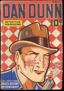DAN DUNN DETECTIVE MAGAZINE 1936 SEPT-RARE FIRST ISSUE VG