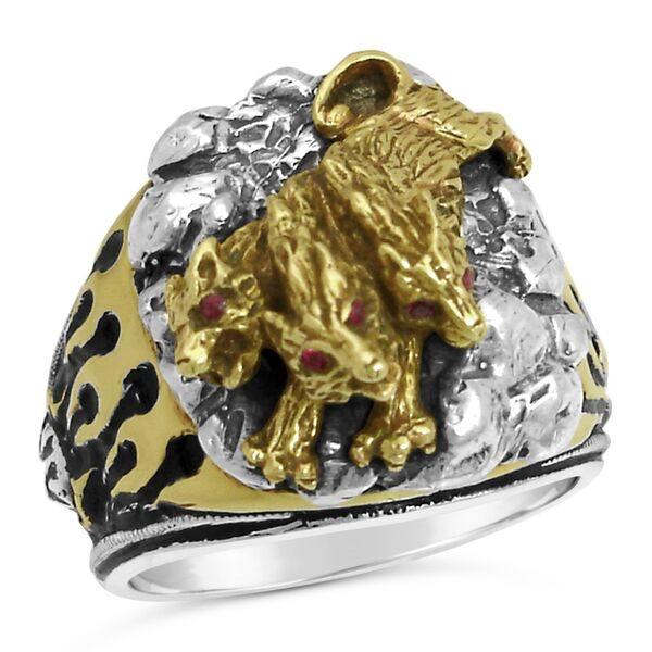 Cerberus HELLHOUND FLAME RING STERLING SILVER