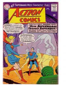 ACTION COMICS #332 1966-SUPERMAN-DC COMICS SUPERGIRL VF