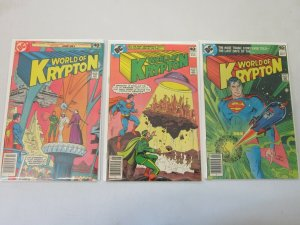 World of Krypton Set #1-3 6.0 FN (1979)
