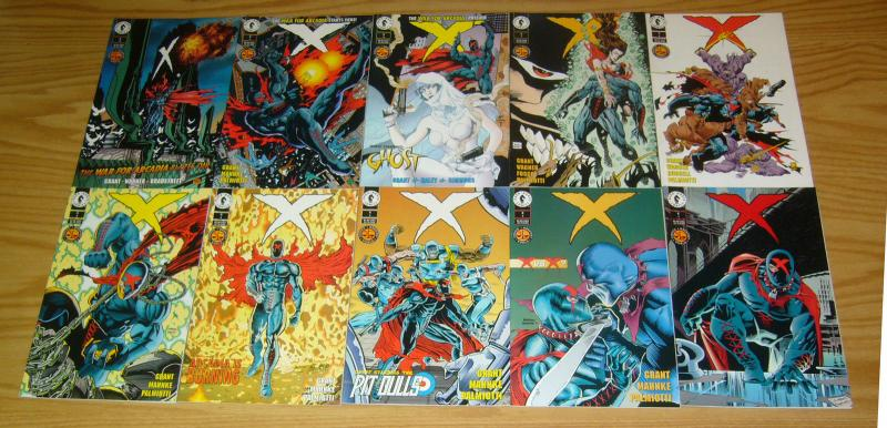 X #1-25 VF/NM complete series + (4) more dark horse comics greatest world set
