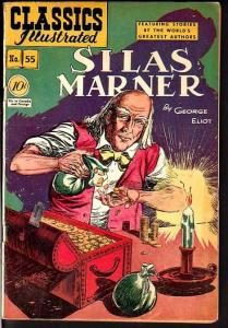 CLASSICS ILLUSTRATED #55-SILAS MARNER-HRN 55-SOTI-RARE VG/FN