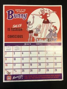 BUNNY Harvey Comics Promo Sales Calendar Poster May 1971