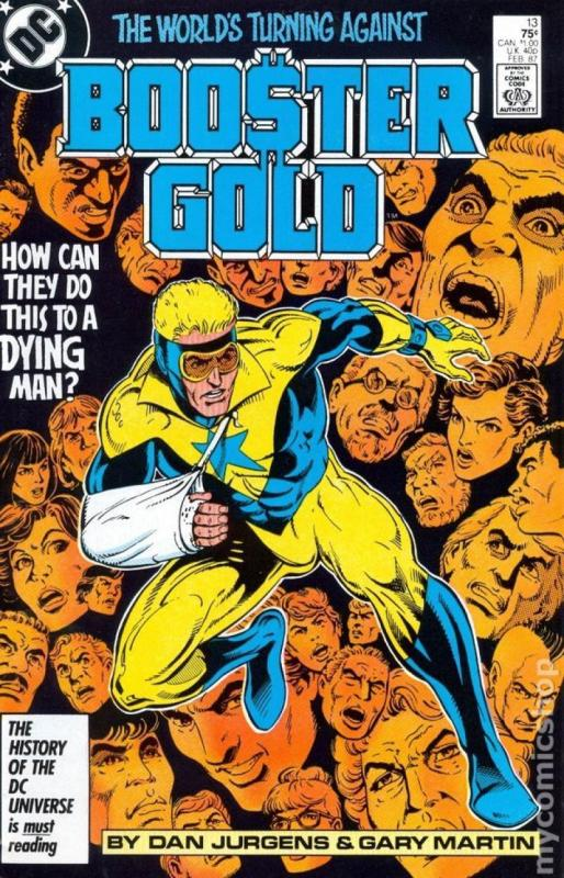 BOOSTER GOLD #13, NM-, Gary Martin, DC, 1986 1987,  more in store