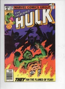 HULK #240, FN, Incredible, Bruce Banner, Joe Sinnott, 1968 1979, Marvel
