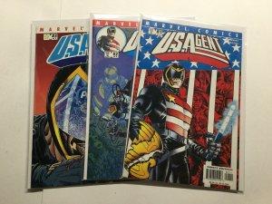 U.S. Agent 1 2 3 Lot Set Run Very Fine Vf 8.0 Marvel