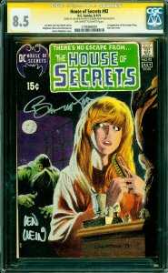 House of Secrets #92 CGC Graded 8.5 1st appearance of the Swamp Thing.