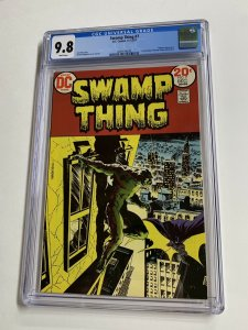 Swamp Thing # 7 CGC graded 9.8 1st meets Batman