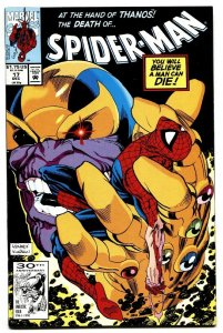 Spider-Man #17 comic book Thanos cover-Marvel 1991