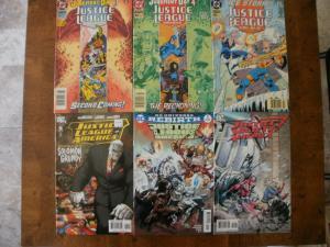 6 DC Comic Book: JUSTICE LEAGUE AMERICA #85 89 90 5 REBIRTH #2 SOCIETY #14