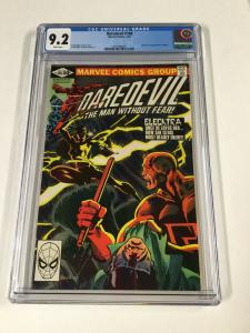 Daredevil 168 Cgc 9.2 White Pages Marvel 1st Elektra