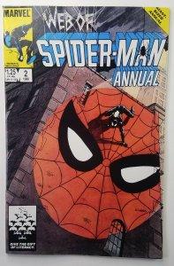 Web of Spider-Man Annual #2 Vol 1 ? Black Suit Costume ? Marvel 1985 ? NM+ ?