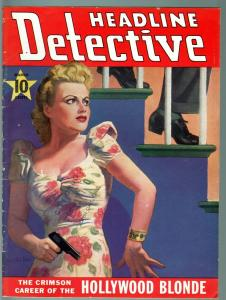 HEADLINE DETECTIVE 1941 MAR-G-TRUE CRIME PULP MAG-HAZEL GLAB ARTICLE G