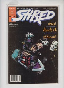 SHRED #2 CFW  / NM / NEVER READ / SKATEBOARD MAGAZINE