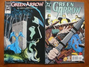 2 DC GREEN ARROW Comic: #25 Witch Hunt (1989 Mature) & #92 Final Friend 1994