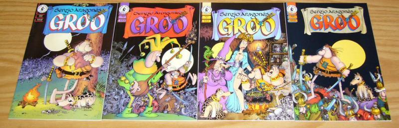 Sergio Aragones' Groo #1-4 VF/NM complete series - dark horse comics set lot 2 3