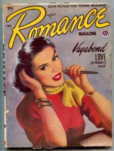 Romance Pulp February 1953- Vagabond Love VG+