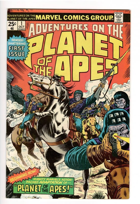 ADVENTURES ON THE PLANET OF THE APES 1 NM- 9.2!! KILLER!!