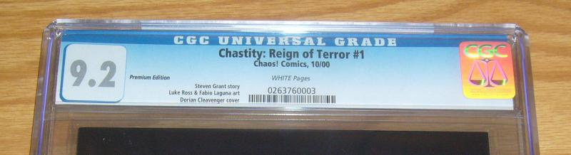 Chastity: Reign of Terror #1 CGC 9.2 cleavenger premium variant limited to 3,000