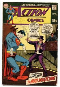 ACTION COMICS #382 1969-SUPERMAN-MAD MAGICIAN-LEGION-DC VG
