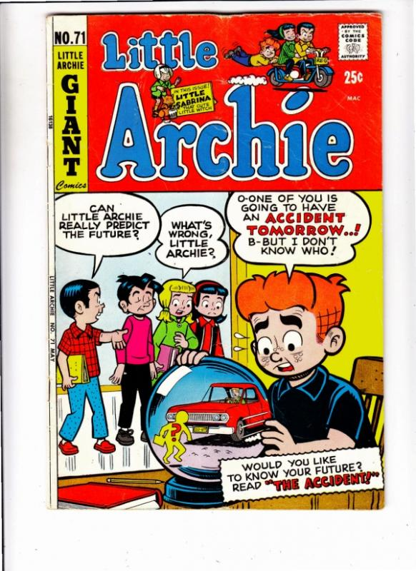Little Archie #71 (May-72) VG/FN Mid-High-Grade Little Archie, Little Veronic...