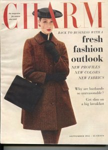 Charm 9/1955-magazine for women who work-fashions, trends-make-up-FN