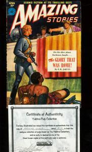 AMAZING STORIES 1951 APR-SPACE MAN V. ROMANS ASIMOV VF/NM