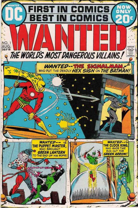 Wanted, the World's Most Dangerous Villains #1 VG; DC | low grade comic - save o