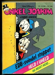 Onkel Joakim #14 1981-Disney-Danish-Uncle Scrooge-Carl Barks-Mickey Mouse-VG